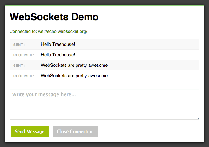 Building a WebSockets Demo Application