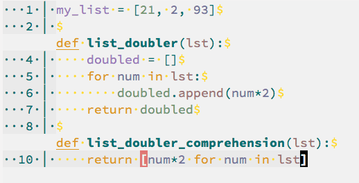 Python Single Line For Loops